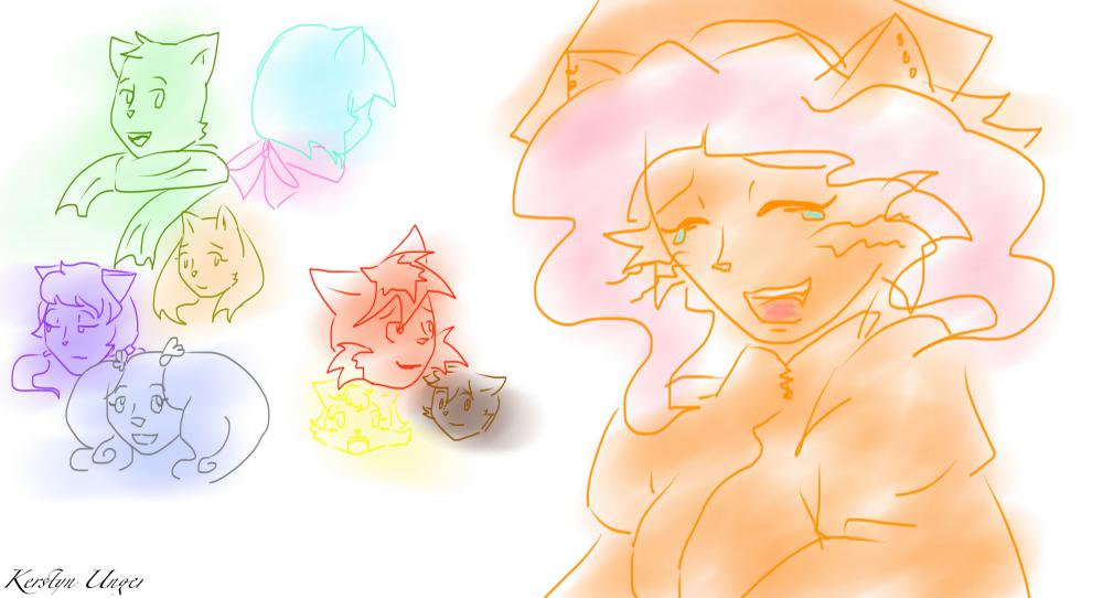 Candybooru image #9572, tagged with Abbey Daisy Lucy Mike Paulo Rachel Salty_Fin_(Artist) Sue Tess