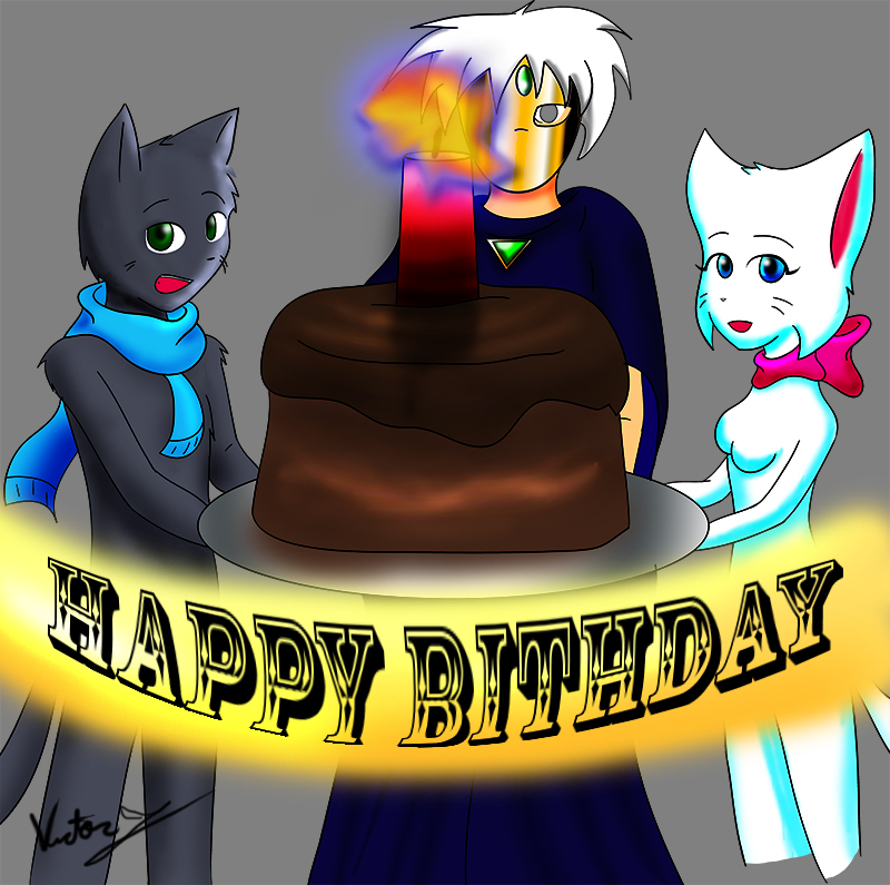 Candybooru image #8124, tagged with Lucy Mike Mil_Faces_(Artist) birthday
