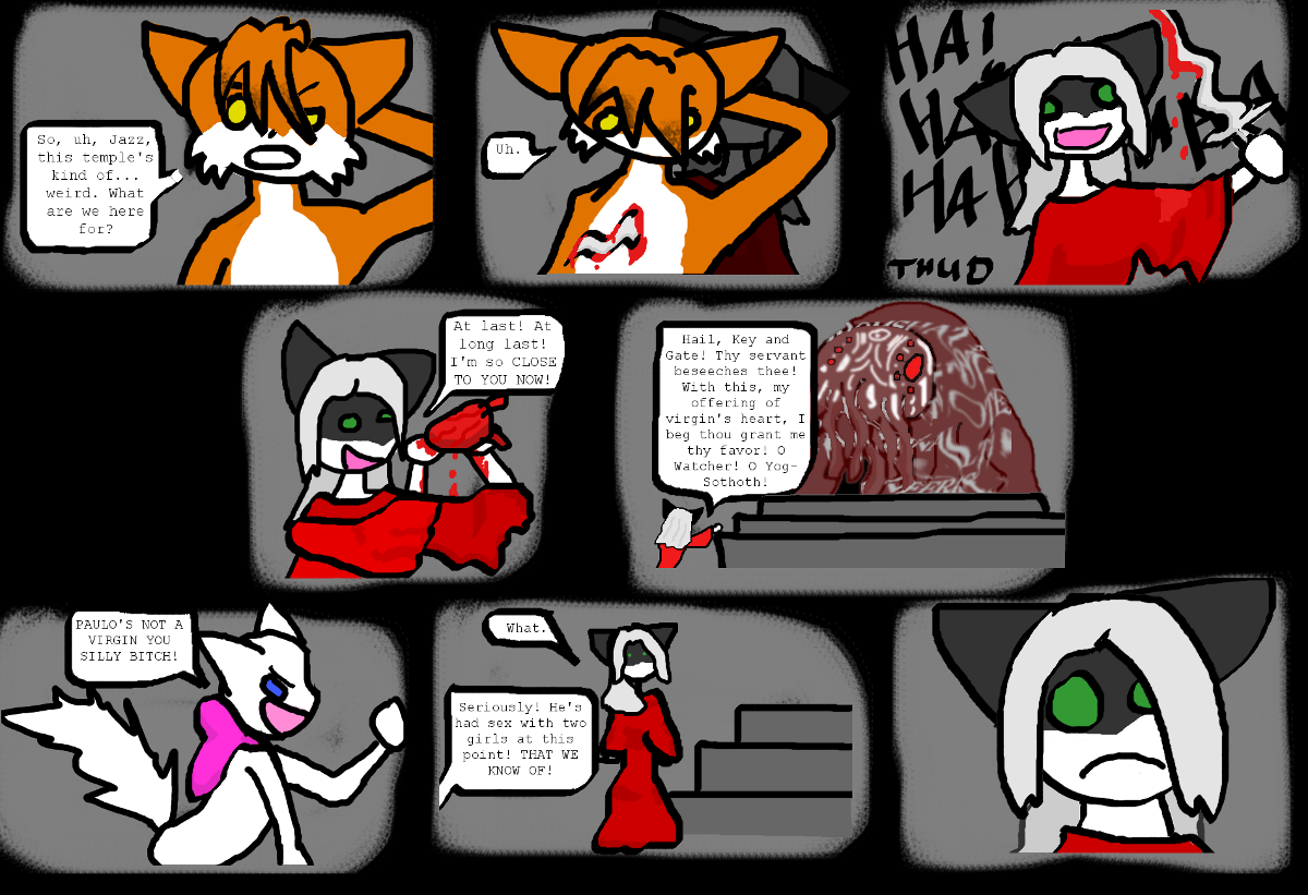 Candybooru image #1842, tagged with Jasmine Lucy Paulo Rocketpony_(Artist) blood comic weapon