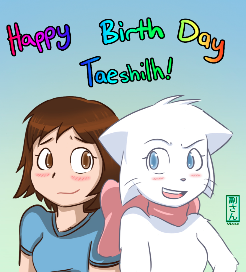 Candybooru image #7019, tagged with Lucy Taeshi Vicse_(Artist) birthday
