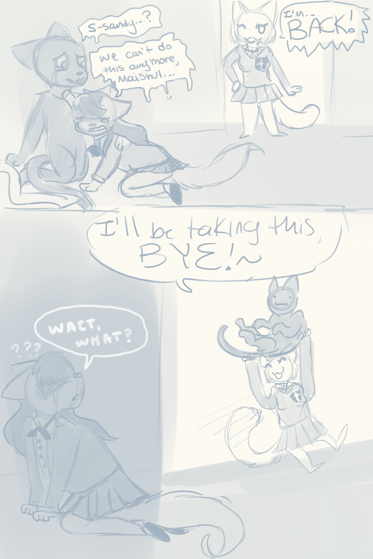 Candybooru image #11476, tagged with Lucy Mike MikexLucy Sandy Swiftily_(Artist) comic sketch