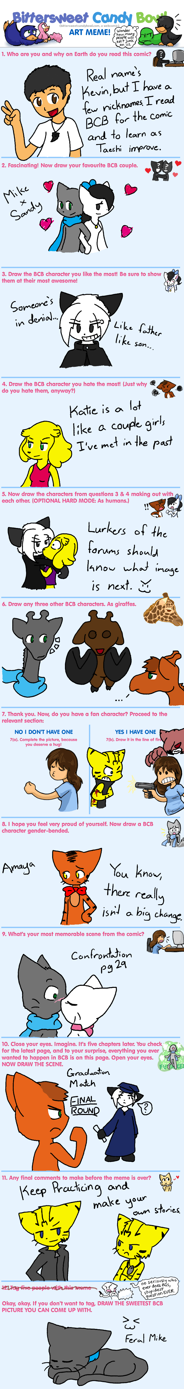 Candybooru image #1458, tagged with Abbey Amaya Augustus BCB_Art_Meme David Jack Katie Lucy Mike Sandy Suri Ved_the_Flame_Devil_(Artist) fancharacter meme