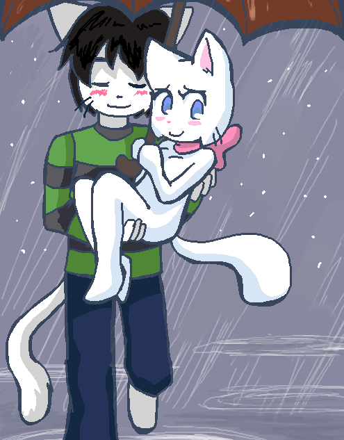 Candybooru image #536, tagged with Liam LiamxLucy Lucy Taeshi_(Artist) rain