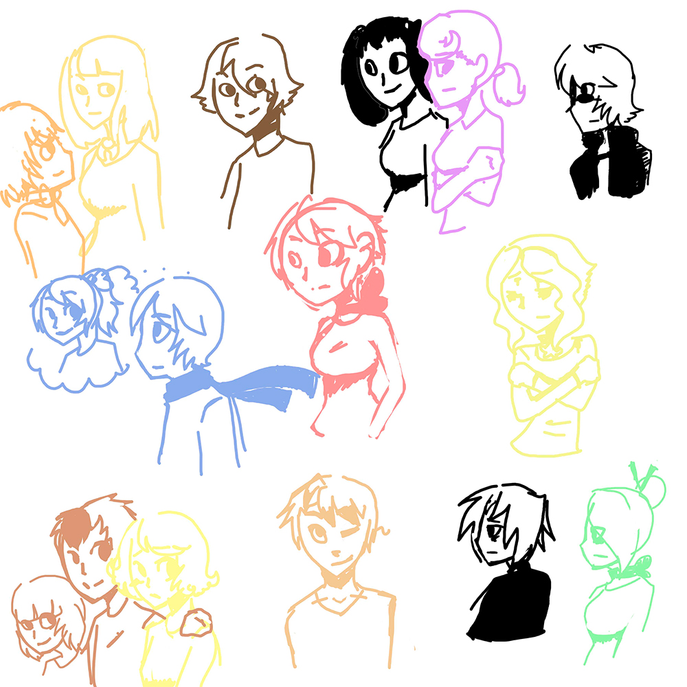 Candybooru image #7696, tagged with Abbey Amaya Augustus Besu_(Artist) Daisy David Jasmine Jessica Lucy McCain Mike Molly Paulo Rachel Sandy Sue Tess human sketch