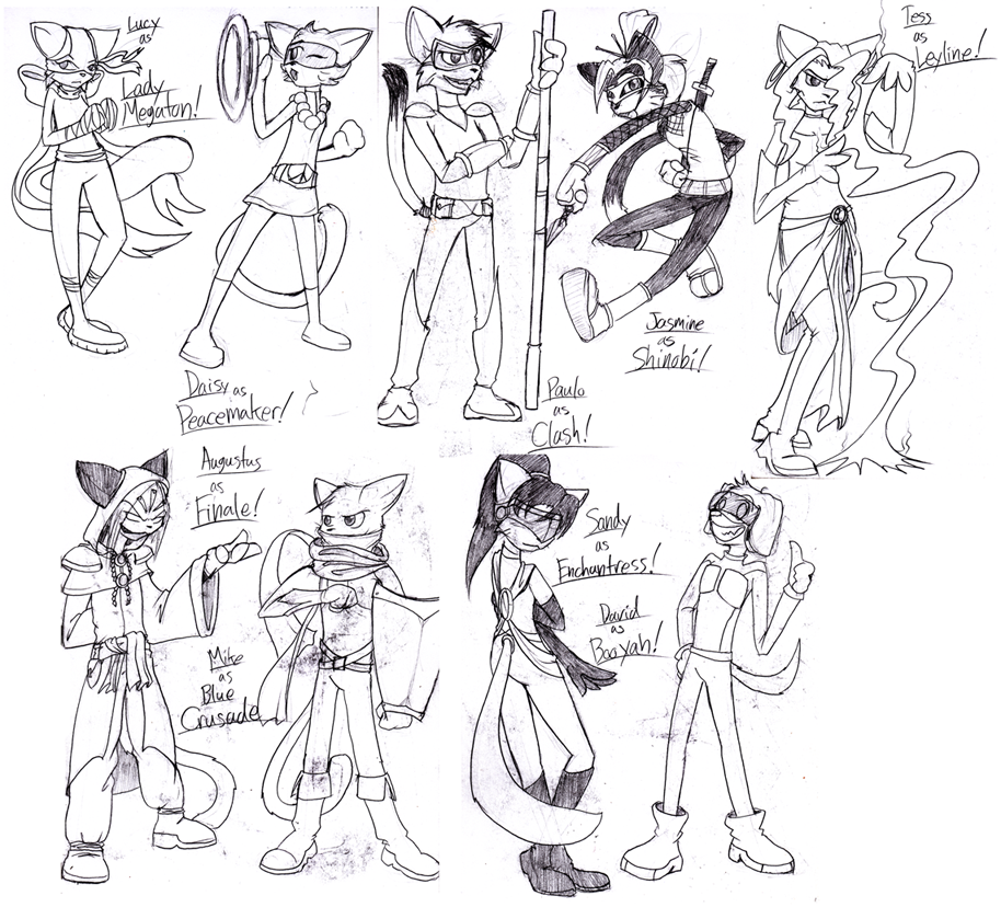Candybooru image #3452, tagged with Augustus Daisy David Jasmine Lucy Mike Paulo Sandy Tess sketch