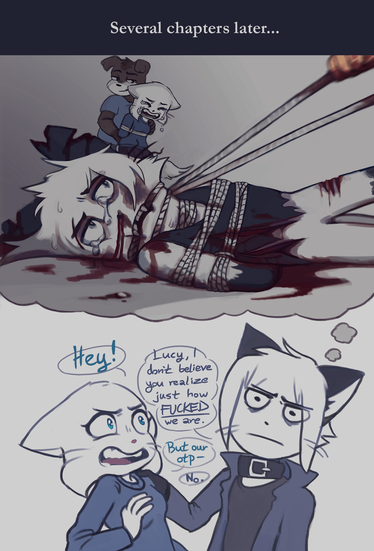Candybooru image #11836, tagged with Augustus AugustusxLucy IronZelly_(Artist) Lucy blood comic