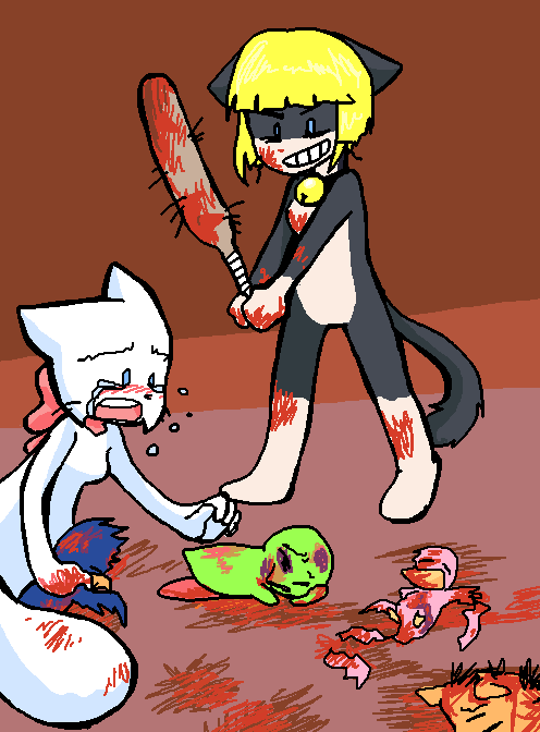 Candybooru image #351, tagged with Blur Bridgey Chirpy Lily Lucy Taeshi_(Artist) Yashy blood weapon