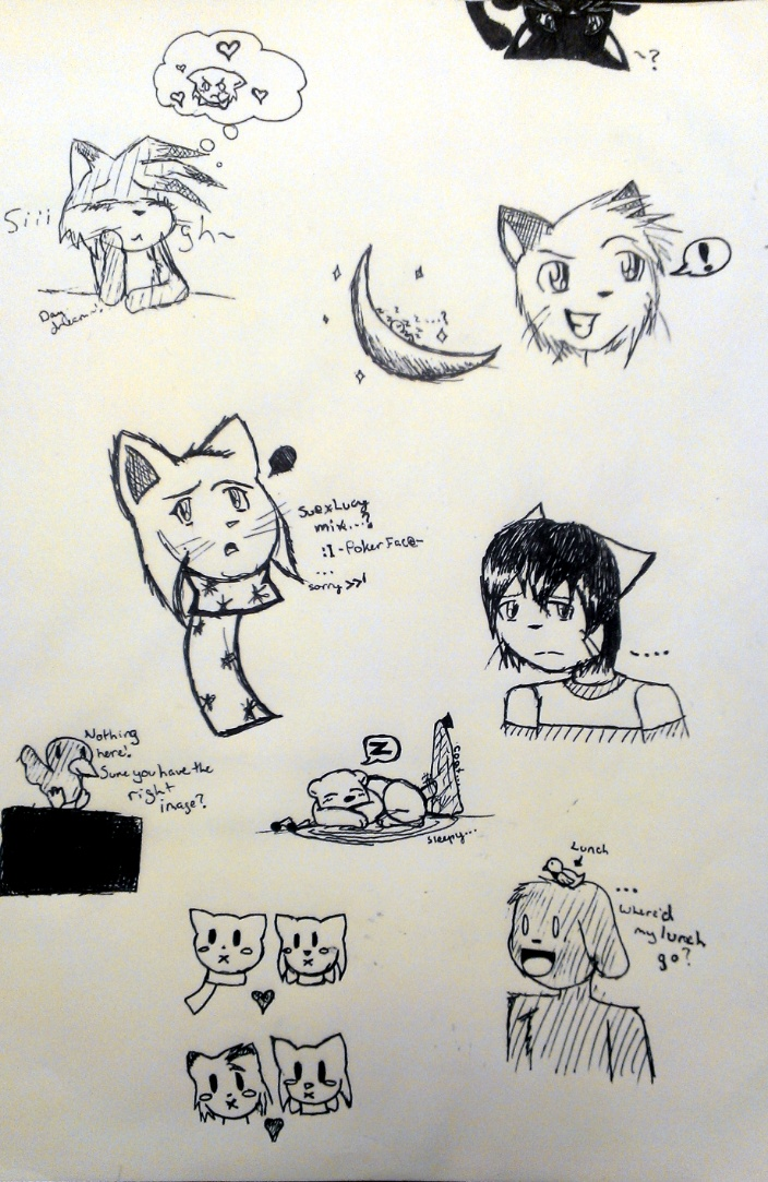 Candybooru image #7317, tagged with David Error Larken Liam Lucy LucyxSue McCain Mike MikexLucy Paulo PauloxLucy Yaschiri_(Artist) kittens