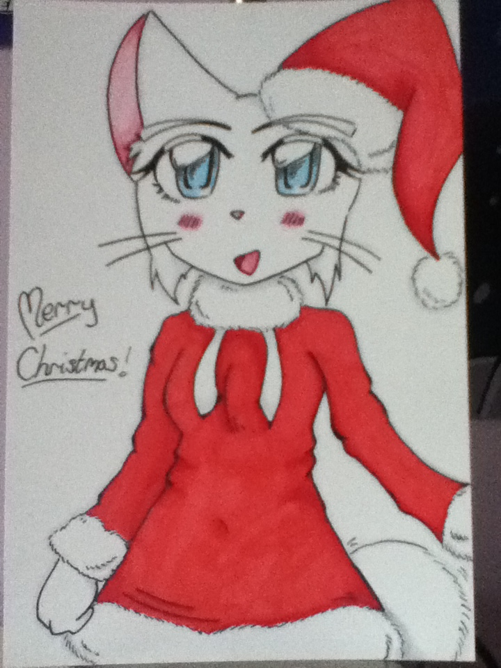 Candybooru image #4917, tagged with Christmas Lucy TessaFan_(Artist) costume