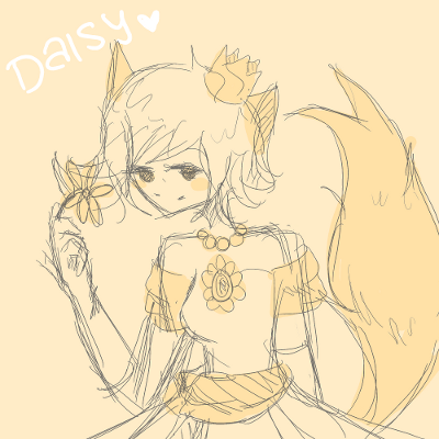 Candybooru image #5317, tagged with Cookie_(Artist) Daisy costume sketch