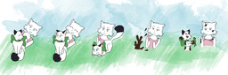 AugustusxLucy CWatts_(Artist) Lucy's_mother kittens (7650x2530, 1.7MB)