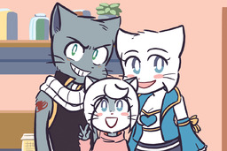Draw_Stream Lucy Mike MikexLucy Taeshi_(Artist) kittens (1200x800, 359.8KB)