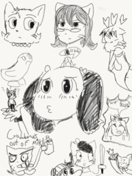 Daisy Lucy Madison Matt Mike Paulo Rachel Sandy Stacy Yashy abigblackdonut_(Artist) sketch (1300x1733, 2.8MB)
