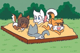 Draw_Stream Lucy Mike Molly Paulo Taeshi_(Artist) kittens (900x600, 314.5KB)
