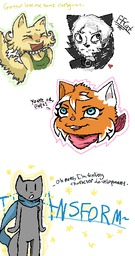 Augustus Daisy LemonyLicks_(Artist) Mike PauloxLucy kittens sketch (300x570, 17.2KB)
