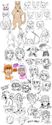 Abbey Augustus AugustusxAbbey Daisy Lucy Mike Paulo PauloxDaisy PauloxLucy Sandy Sue human juicebot_(Artist) sketch (1000x2400, 1.8MB)
