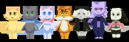 Augustus Daisy Jessica Lucy Mike Paulo Rachel Spunos_(Artist) animated (900x300, 1006.6KB)