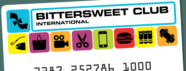 A closeup of the Bittersweet Gold membership card