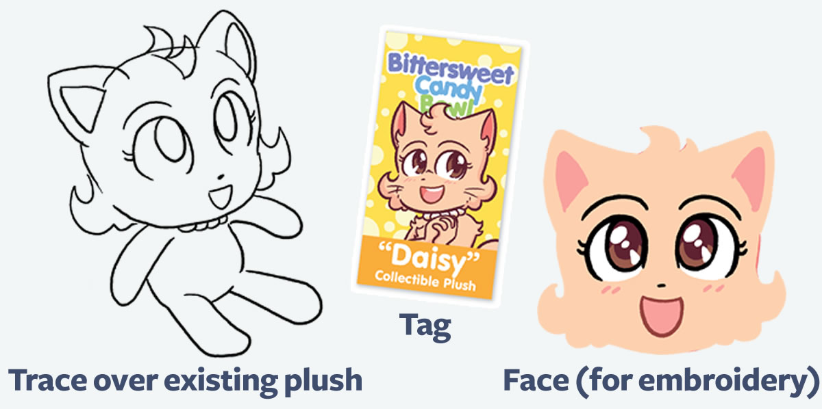 The Daisy plush.